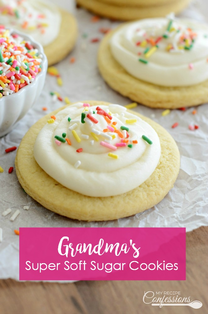Grandma's Super Soft Sugar Cookies recipe is hands down the BEST RECIPE EVER! They are not only delicious, they are very easy to make too and they never spread wen baked. I get asked for the recipe every time I make them.