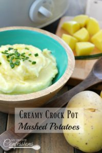 Creamy Crock Pot Mashed Potatoes will rock your world! These potatoes are the best I have ever had! They are so creamy and super easy. They make the perfect side dish for Thanksgiving, Christmas, Easter, or really any meal. I love that you can make ahead and they are ready when we sit down to eat.