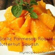 Garlic Parmesan Roasted Butternut Squash