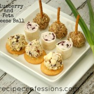 Blueberry and Feta Cheeseball