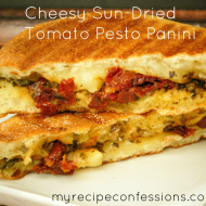 Cheesy Sun-dried Tomato and Pesto Panini