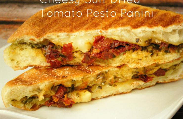 Cheesy Sun-dried Tomato and Pesto Panini