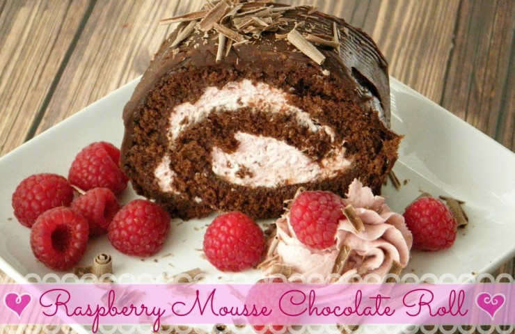 Raspberry Mousse Chocolate Roll