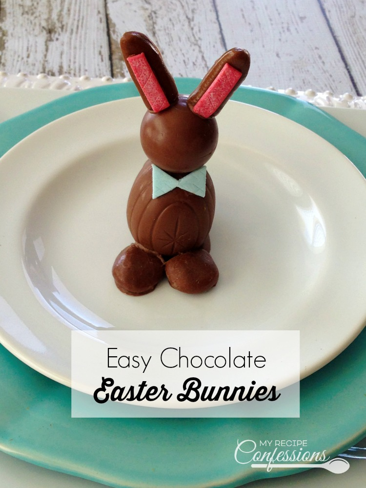 Easy Chocolate Easter Bunnies are a fun and easy treat to make with the kids for Easter. Instead of coloring Easter eggs this year, give these adorable bunnies a try. Not only are they super cute and fun to make, they are delicious too!