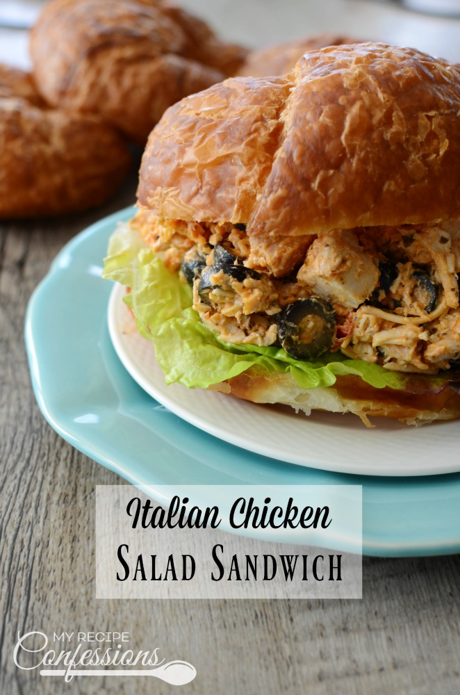 This Italian Chicken Salad Sandwich recipe is an easy recipe to make and is one of the best recipes you will ever try! It is a delicious twist on the classic chicken salad recipe. It can be put together very quick and it is always a crowd pleaser!