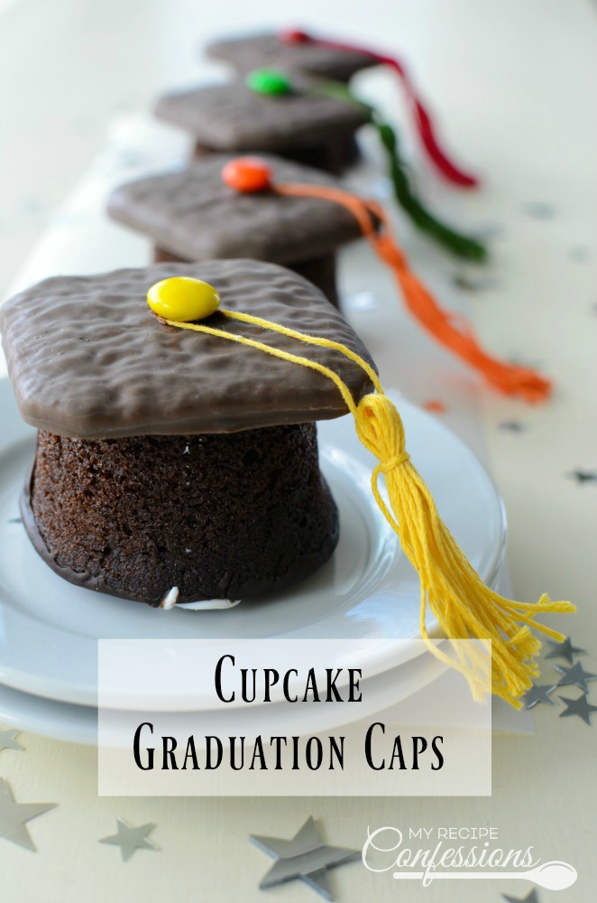 Cupcake Graduation Caps make the perfect DIY dessert for your preschool, kindergarten, high school, or even college graduation party. There is no need to spend a lot of money on bakery cupcakes when you can make your own for half the cost.
