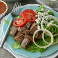 Grilled Steak and Blue Cheese Salad