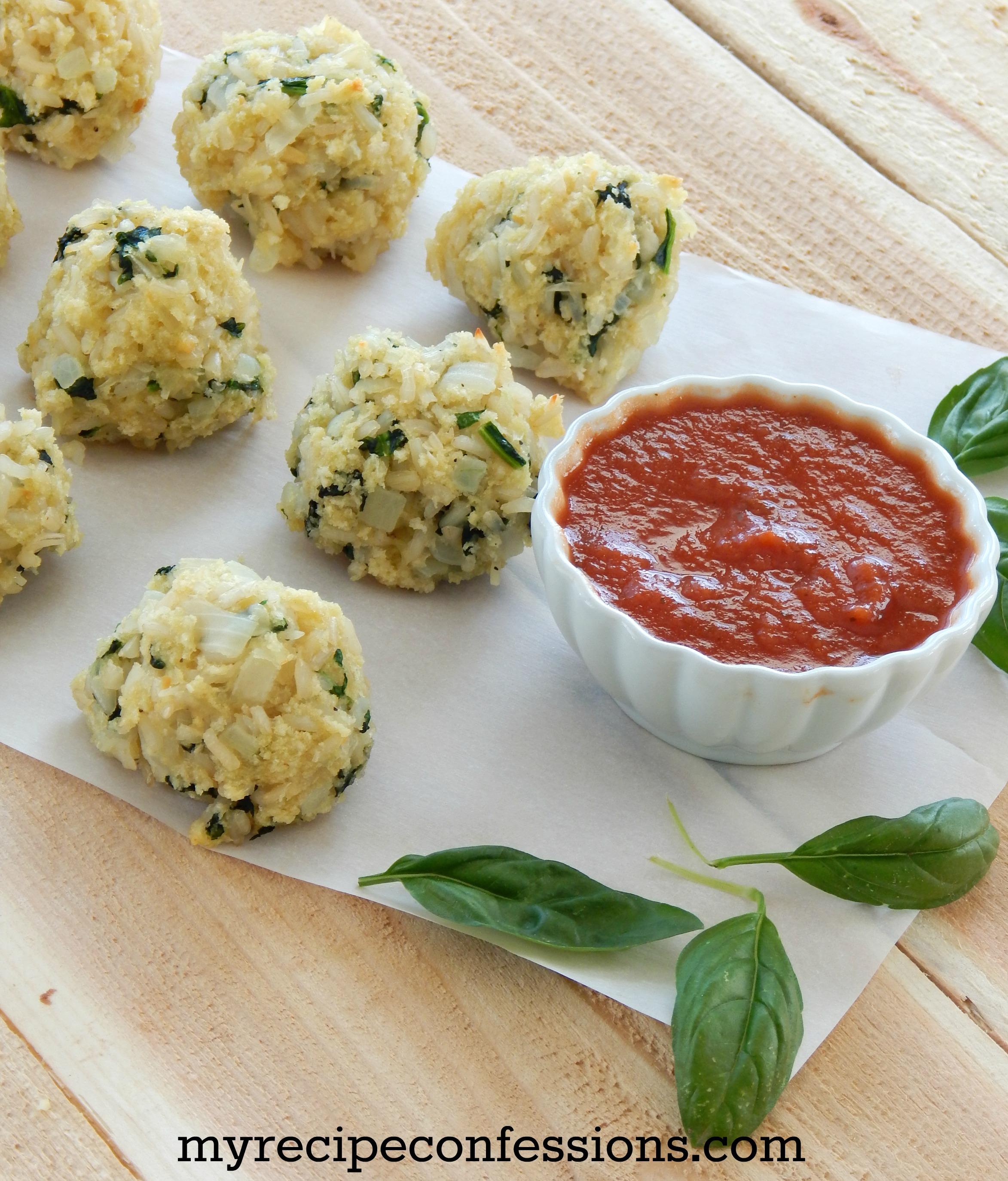 Spinach Rice Balls