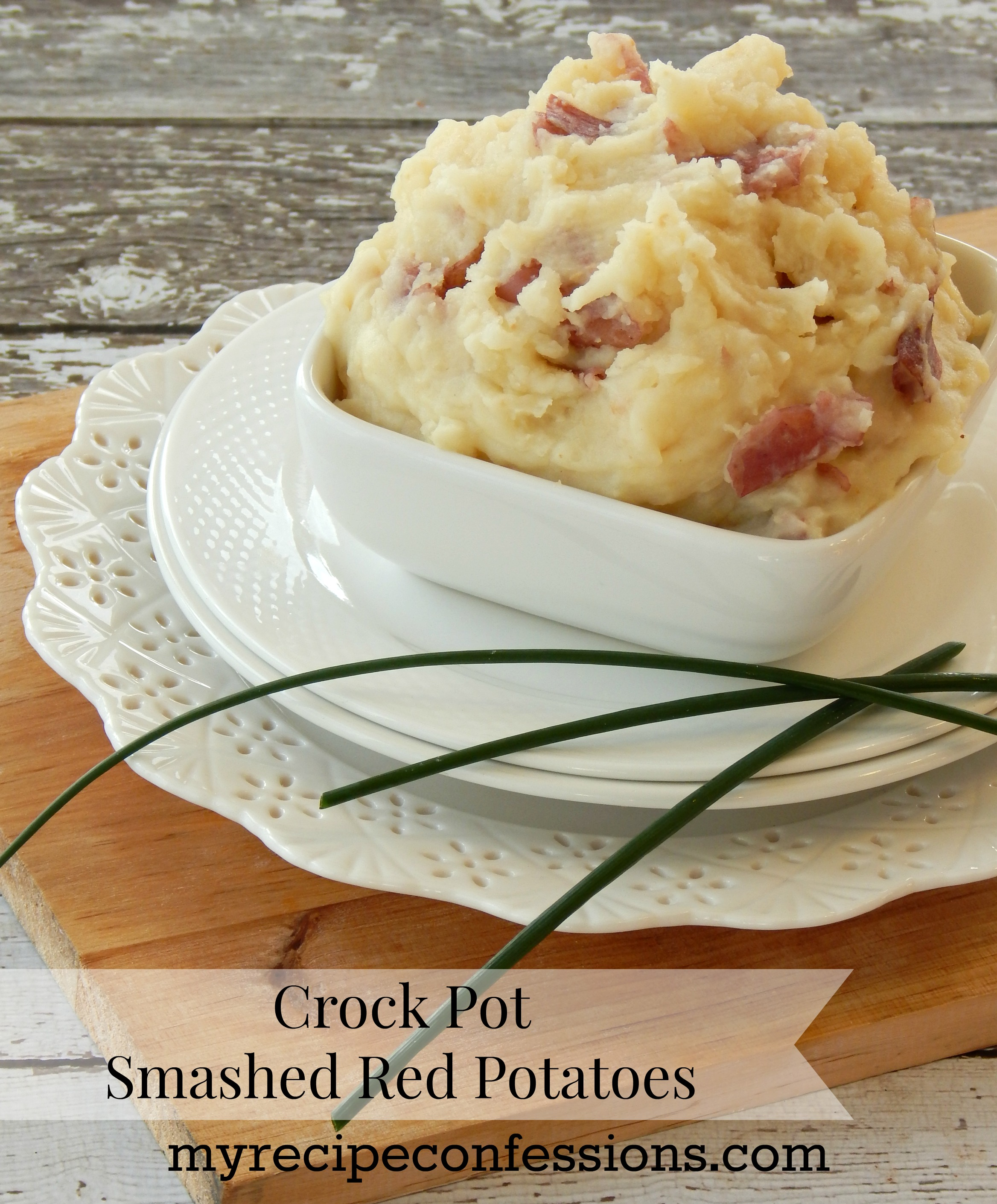 Crock Pot Smashed Red Potatoes