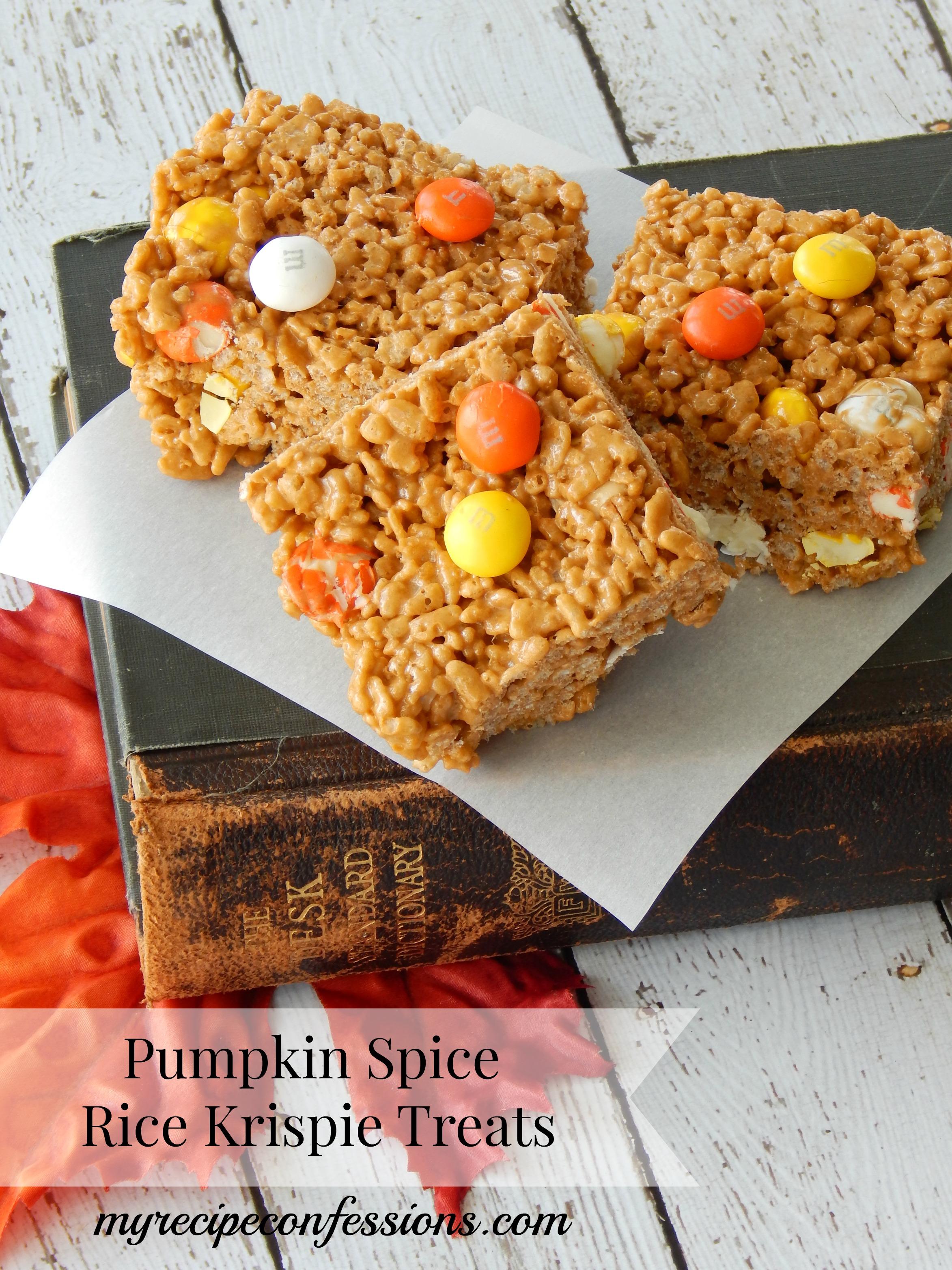 Pumpkin Spice Rice Krispie Treats - My Recipe Confessions