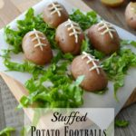 Stuffed Potato Footballs