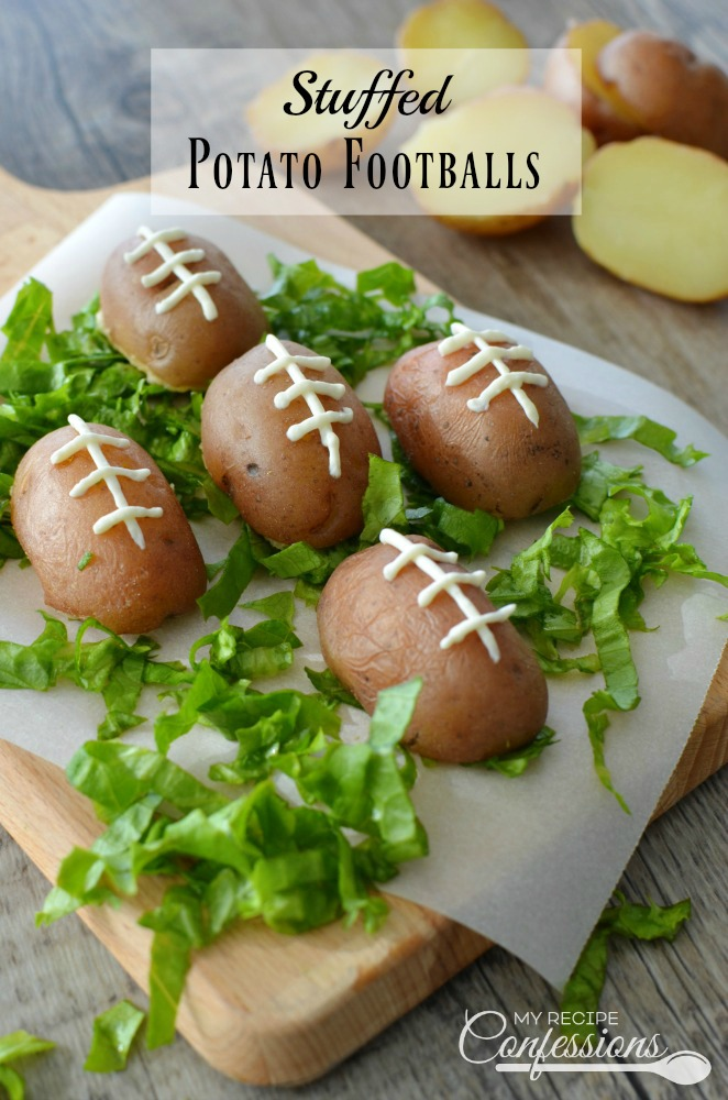 Stuffed Potato Footballs is the perfect appetizer for your football party! Between the crispy skin and the cheesy bacon filling it's a guaranteed touchdown! Follow the Electric Pressure Cooker instructions and cook the potatoes in 3 minutes. Trust me, these potatoes are always a winner at parties!