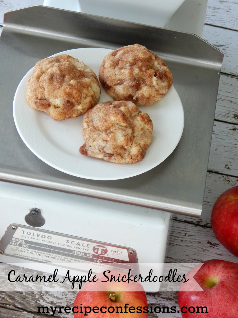 I am always drawn to apple recipes, especially in autumn time. Caramel Apple Snickerdoodles is one of my favorite recipes. Anytime I take these cookies to a party everybody always asks me for the recipe. Trust me they are amazing!