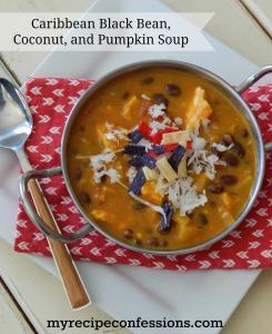 Caribbean Black Bean, Coconut, and Pumpkin Soup