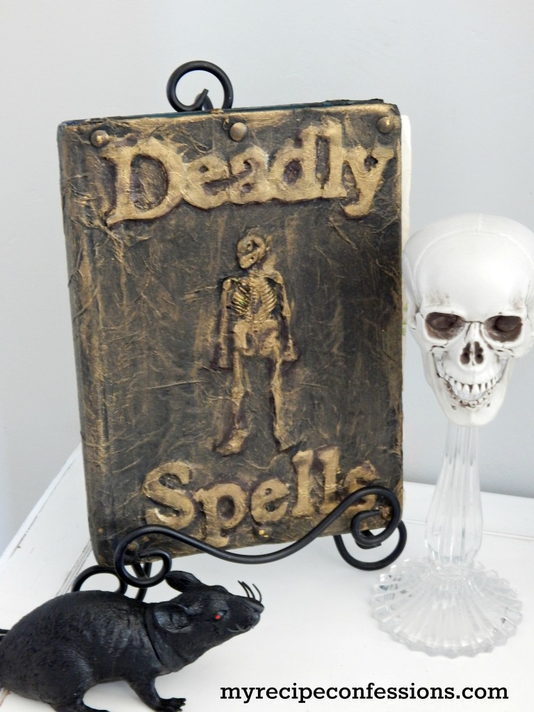 One of my favorite things about fall is when I get to swap out my regular home décor for my Halloween decorations. I love Halloween and these Spell and Potion Books look perfect with all my other decorations. Check my tips and tricks for these books.  I just know you are going to love this Halloween craft!