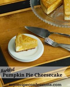Marbled Pumpkin Pie Cheesecake