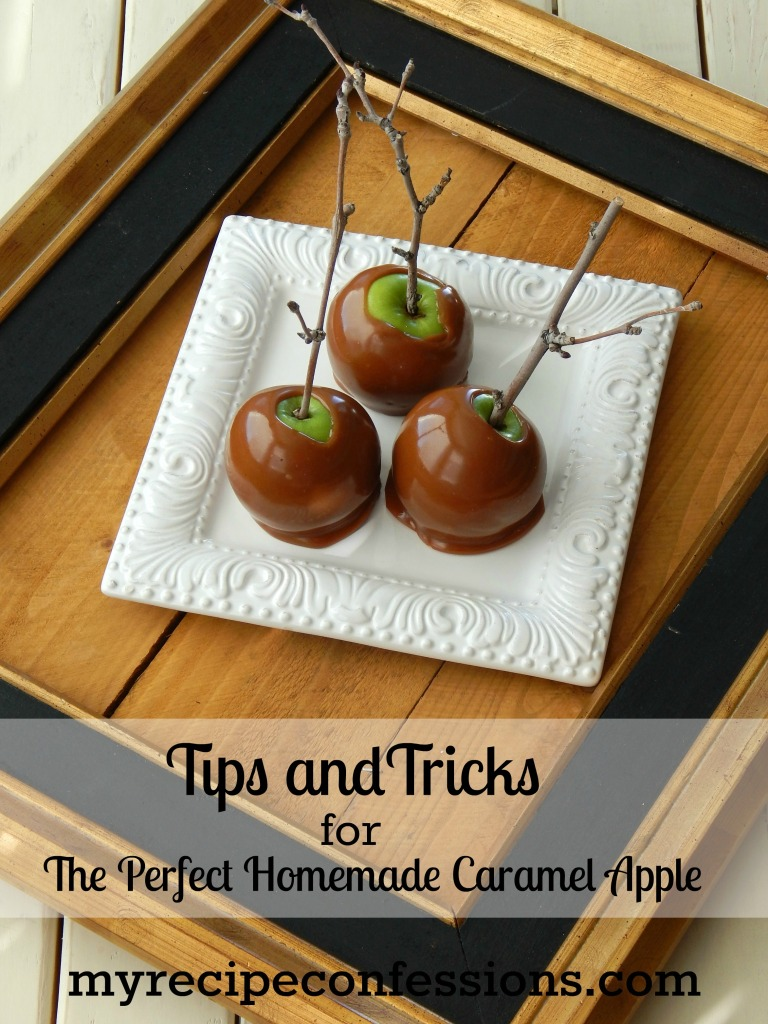 Tips and Tricks for the Perfect Homemade Caramel Apples is the perfect companion to The Best Homemade Caramel Apples! There is no need to try any other recipes, because this is the best one out there! Check out all the amazing tips and tricks that will make you caramel apple experience a huge success. If you like to make diy gifts for Christmas, these apples are perfect for that.