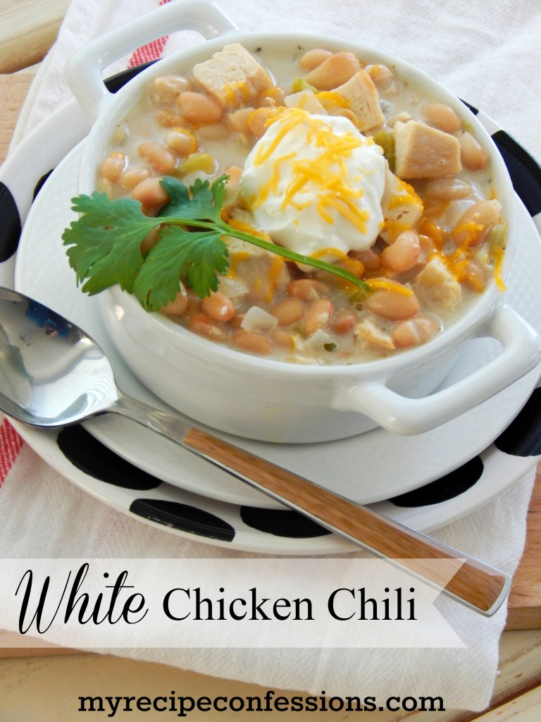 White Chicken Chili is the best chili recipe! It will warm you from head to toe. It is so simple to make and can be whipped up in no time at all.