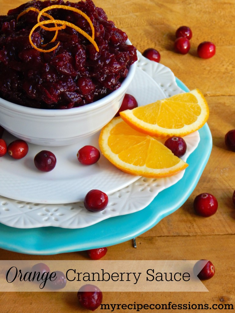 Orange Cranberry Sauce. This is one of the best recipes for cranberry sauce I have ever had! Don't buy the canned stuff this Thanksgiving. This recipe is quick, quick easy, and bursting with flavor!