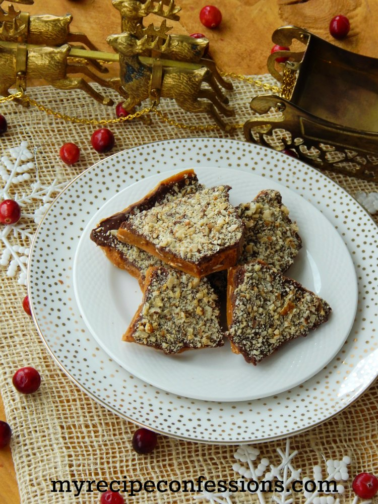 Bernice's Famous English Toffee-This is my husband's grandmas recipe. I was surprised how easy it is to make. This is the best homemade homemade toffee recipe ever! My family begs me to make this every Christmas.