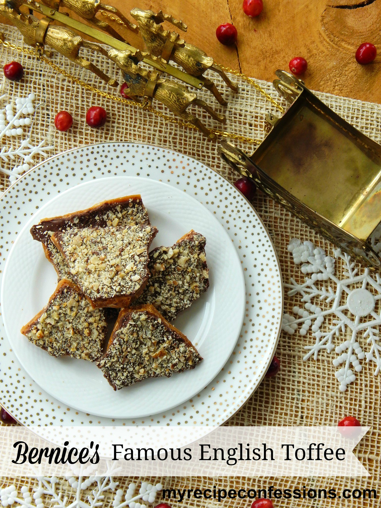 Bernice's Famous English Toffee