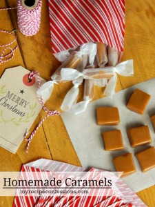 Homemade Caramel. All the other homemade caramel recipes do not compare to this one! It is soft, but not too sticky. You will not find a richer or creamier caramel than this one! They make great diy gifts for neighbors. Everybody always asks for the recipe.