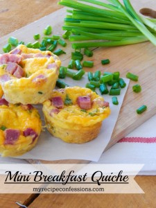 Mini Breakfast Quiche is perfect for Christmas morning, Easter morning, or really any day or any time. I tried a lot of quiche recipes and this one is my favorite because it is easy to make and is loaded with flavor! My kids cannot not get enough of these things! You have got to check out how easy they are to throw together