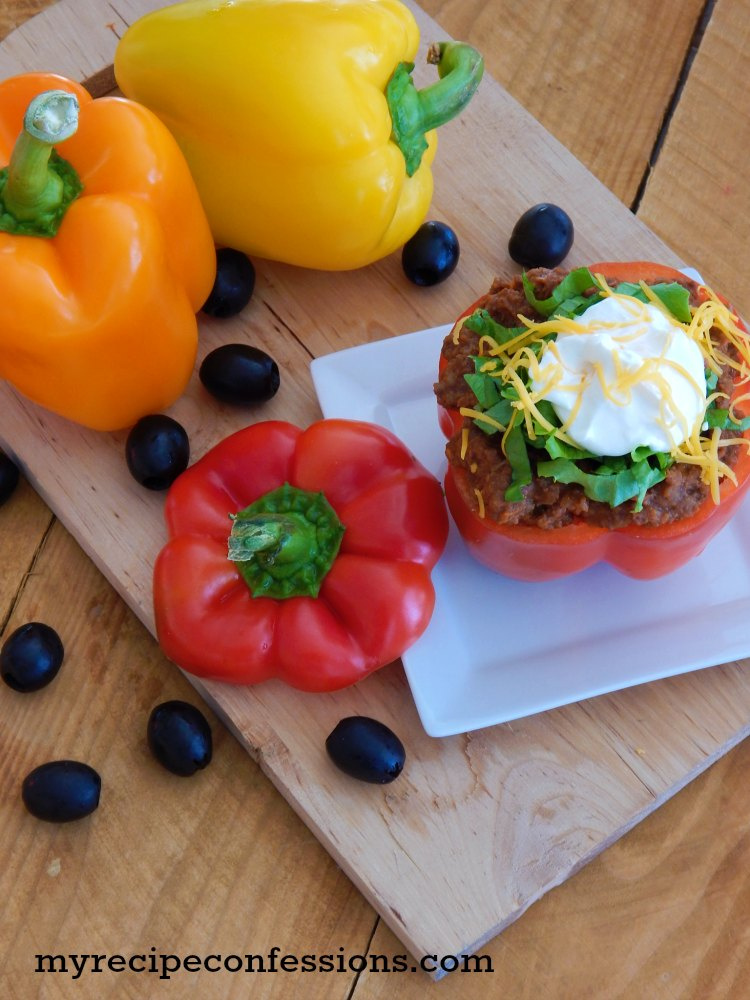 Baked Bell Pepper Tacos. These bell pepper tacos are heavenly! They are a great gluten-free recipe that everybody will love! Don't mess with other recipes, this is the only one you need. It is simple and easy and everybody always loves them!
