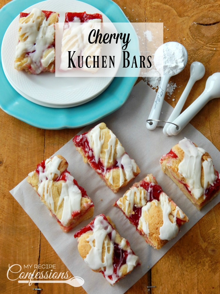 Cherry Kuchen Bars - My Recipe Confessions