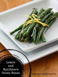 Lemon and Myzithera Green Beans