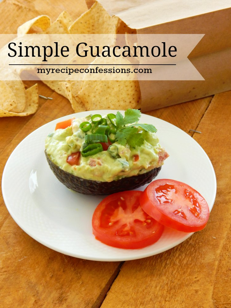 Simple Guacamole is a easy recipe that tastes just like the guacamole dip you get at the restaurants. It is a definitely one of my favorite appetizers! I love to make it for parties or just to snack on at home.