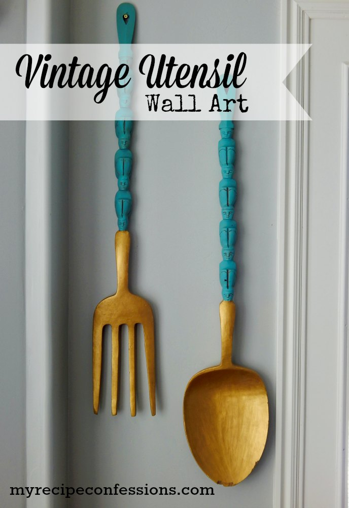 Wooden Utensil Wall Decor : Wooden kitchen utensil wall art my recipe confessions