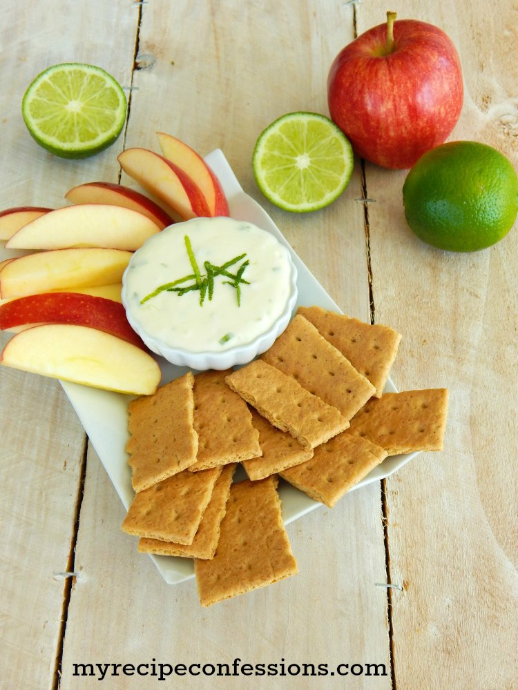 Creamy Key Lime Pie Dip. This dip is delicious twist key lime pie. It is amazing served with graham crackers and fresh fruit. I love to make it for summer BBQs. It can also be served year round at any party with all the other appetizers. It is a different than your traditional fruit dip and there is rarely any leftovers.