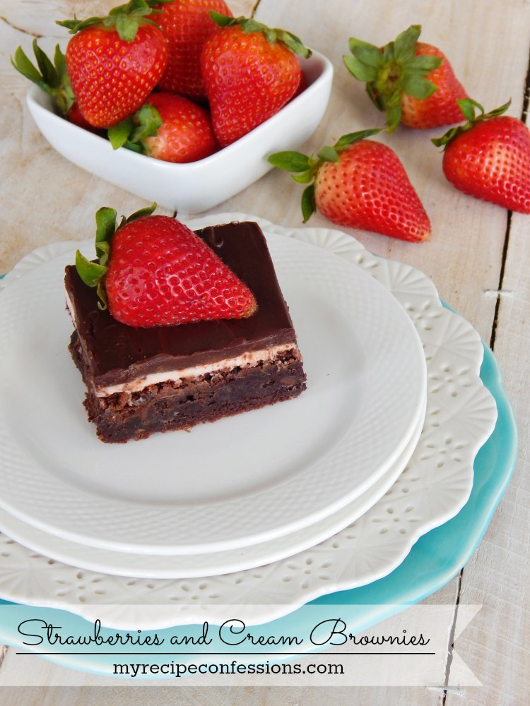 Strawberries and Cream Brownies