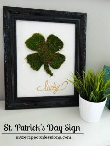 st.patrick's day sign