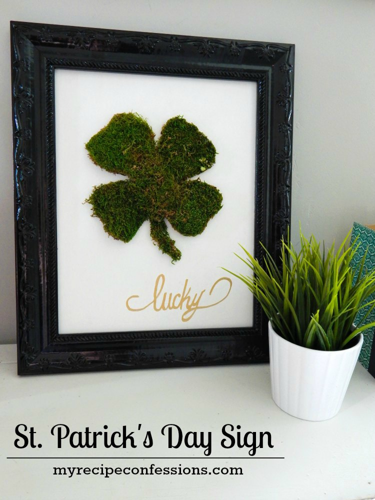 St. Patrick's Day Sign. This diy sign is a cheap and easy home décor project for St. Patrick's Day. I love diy crafts! This sign was fun to make because it was so quick and easy. I was tempted to make a few more, but I only need one for my house.