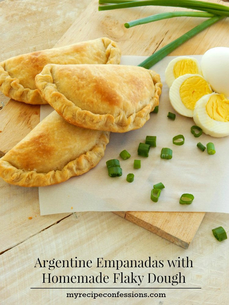 Argentine Empanadas with Homemade Flaky Dough. My childhood memories are filled with my mom in the kitchen making these empanadas for us. This is one of the best Argentine empanada recipes. The dough is flaky, but not dry and the meat mixture is so juicy! This is my kid's favorite dinner recipes.