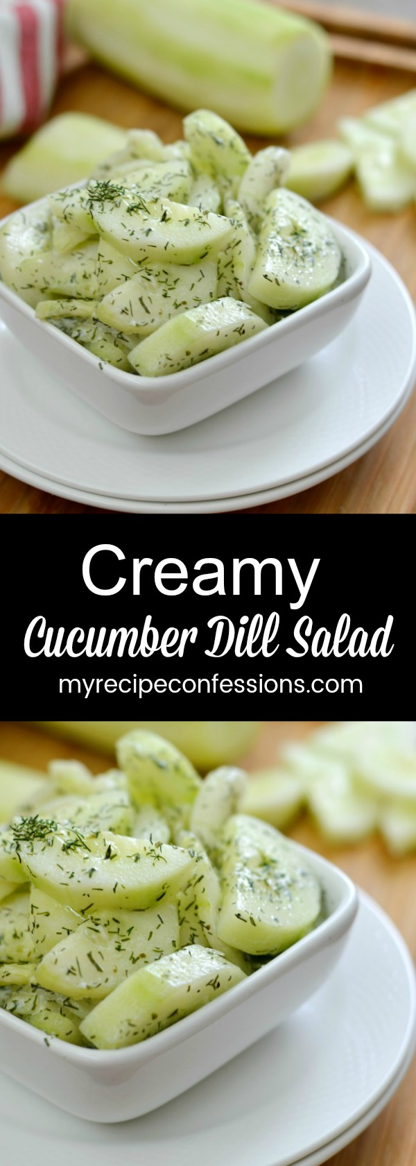 Creamy Cucumber Dill Salad is a healthy, quick, and easy salad that everybody will love! I love how light and refreshing it is. It's the perfect side salad for brunch, lunch, or dinner.