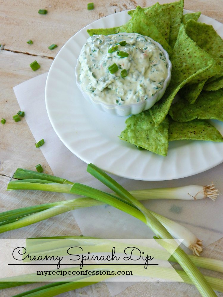 Creamy Spinach Dip is the best dip recipe ever! It is so incredibly easy to make. This dip makes a great appetizer. I like to serve it cold with tortilla chips.
