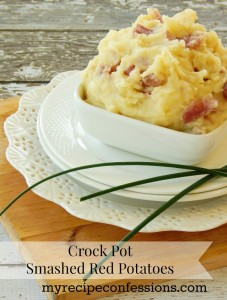 Crock Pot Smashed Red Potatoes