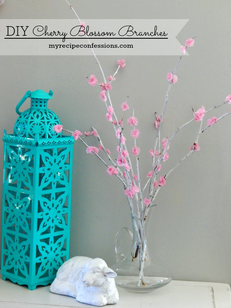 Diy Wall Art That Looks Expensive : Diy cherry tree branches my recipe confessions