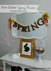 Five Dollar Spring Banner