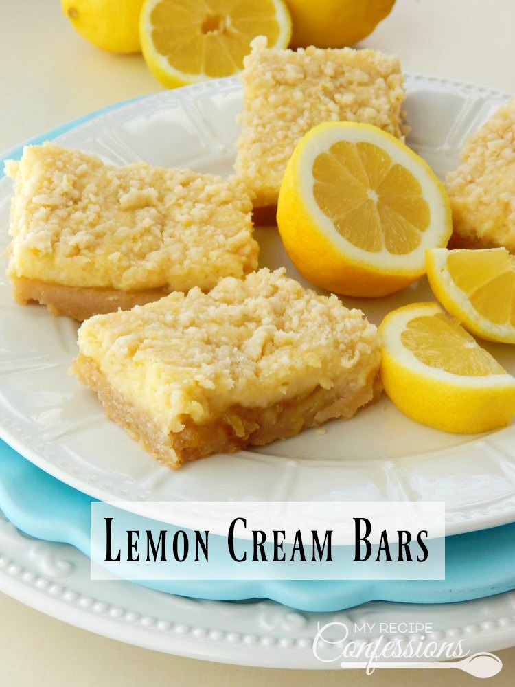 Lemon Cream Bars so EASY and the BEST you will ever taste! These bars are the perfect balance between cream cheese filling and lemon curd. This recipe is my go-to when I am craving sweet treats and they hit the spot every time.
