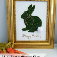 Moss Easter Bunny Sign