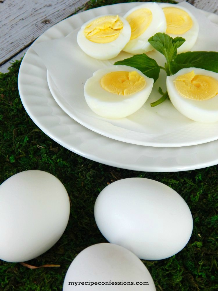 How to Make the Perfect Hard Boiled Eggs in the Oven. I love making hard boiled eggs in the oven! If you are making a big batch of boiled eggs for a breakfast, or a party this is a great way to do it. The eggs won't have a green ring around the yolk. They turn out perfect every time. Don't waste time with other recipes, stick with this one for the best results!
