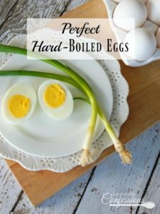 Perfect Hard-Boiled Eggs are easy to peel and come out perfect every time! No more green rings around the yolk or half the egg coming off with the shell.