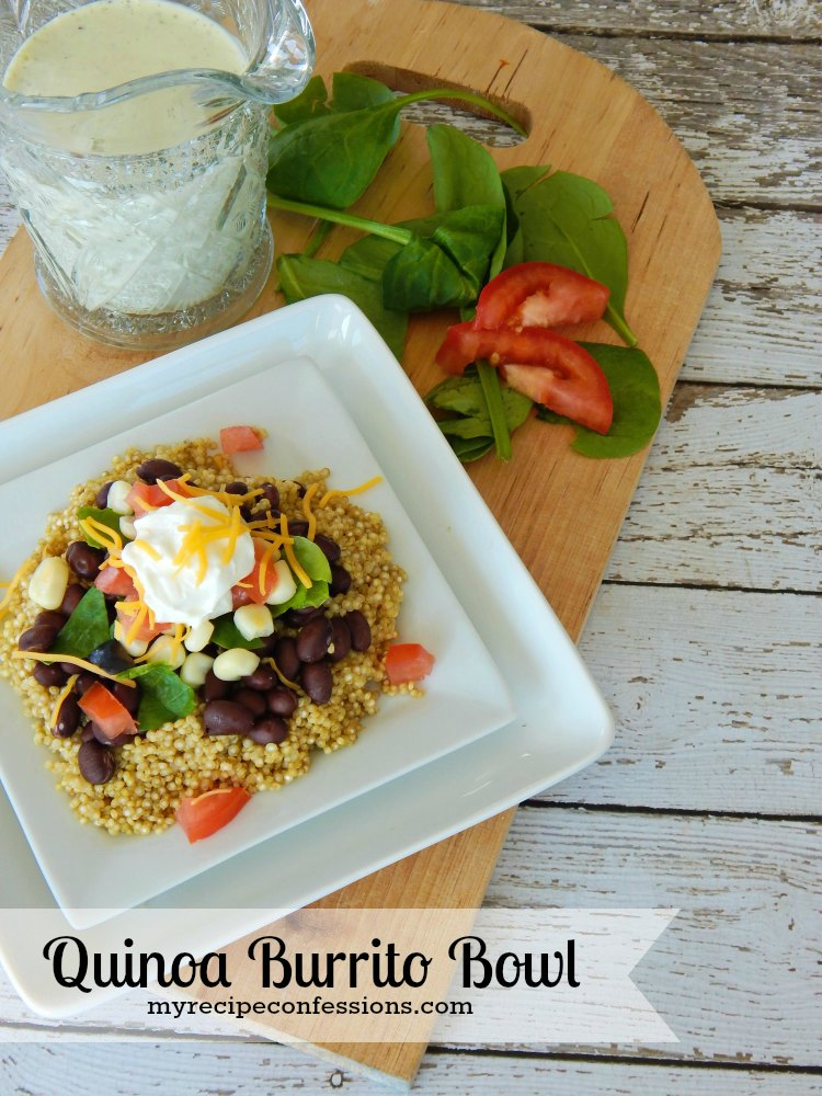 Quinoa Burrito Bowl. This recipe is one of my favorite quinoa recipes! It is so tasty and super easy to make. Not only is it amazing, it is gluten-free too. If like quick and easy dinner recipes, this is the one for you!