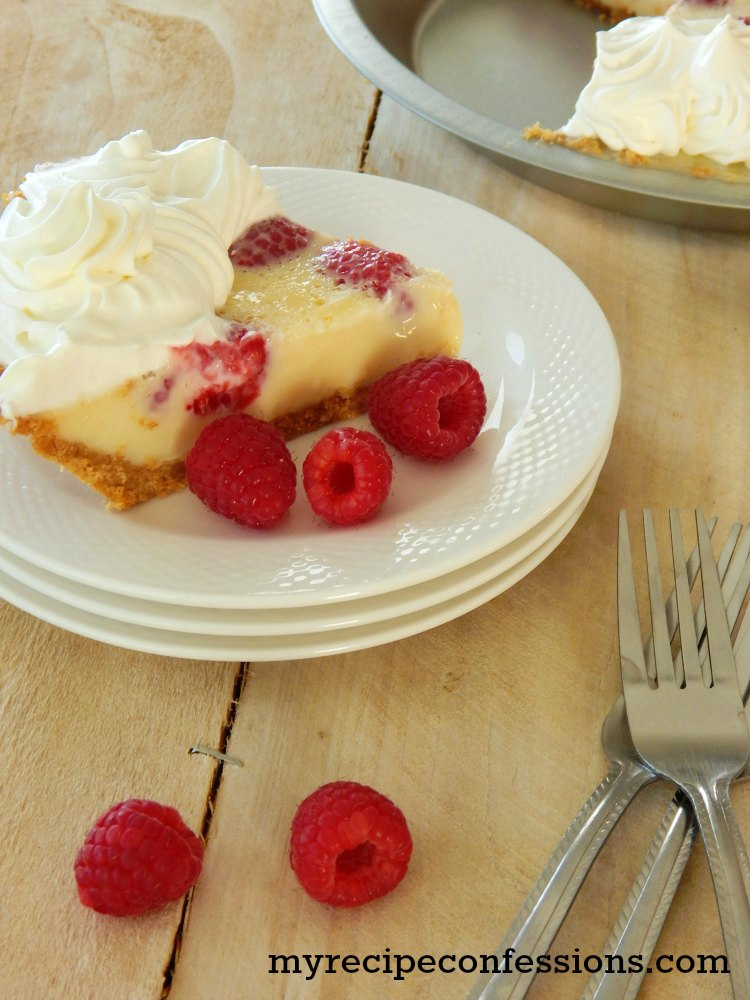 Raspberry Custard Pie. This pie is unbelievably amazing! It is so dang ...