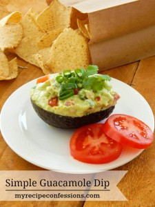 Simple Guacamole Dip