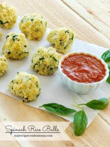 Spinach Rice balls